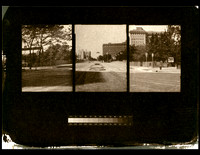 home made three lens pinhole camera. salt print image